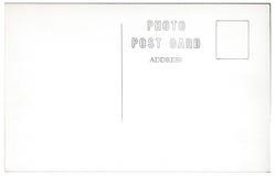 Materiale illustrativo d'annata 1940s-1950s della parte posteriore della cartolina Fotografie Stock