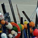 Materiale illustrativo degli oggetti incagliati, Vlieland i Paesi Bassi Fotografie Stock Libere da Diritti