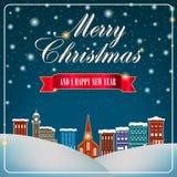 Materiale illustrativo del buon anno e di Buon Natale illustrazione vettoriale