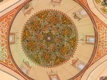 Materiale illustrativo del soffitto al museo di Mevlana in Konya, Turchia Fotografie Stock Libere da Diritti
