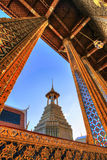 Materiale illustrativo dentro il tempio reale pubblico Immagini Stock Libere da Diritti