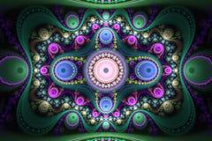 Materiale illustrativo di Abstrct Digital Bello picchiettio simmetrico concentrico illustrazione vettoriale