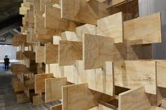 Materiale illustrativo di legno della struttura Fotografia Stock Libera da Diritti