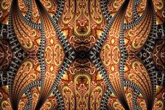 Materiale illustrativo a forma di freccia unico generato da computer artistico astratto dei modelli di forme di frattali 3d illustrazione vettoriale