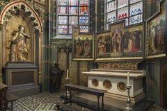 Materiale illustrativo religioso - cattedrale della nostra signora - Anversa - il Belgio Fotografia Stock Libera da Diritti