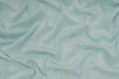 Materiale leggero del raso del turchese, tessuto blu del rasatello, tessuto di seta Immagini Stock Libere da Diritti