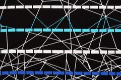 Materiale nero con il modello astratto, un fondo Fotografie Stock
