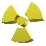 Materiale rivestito di colore giallo di marchio di radioattività Immagine Stock Libera da Diritti