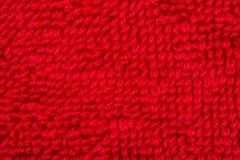 Materiale rosso del panno di cotone Fotografia Stock