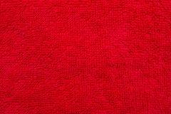 Materiale rosso del panno di cotone Immagini Stock Libere da Diritti
