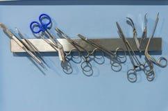 Materiale veterinario di acciaio inossidabile fotografie stock libere da diritti