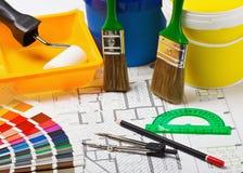 Materialen en voorraden voor reparatie royalty-vrije stock fotografie