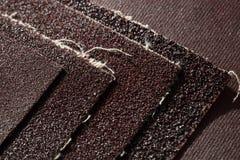 Sistema de hojas del papel de lija Foto de archivo