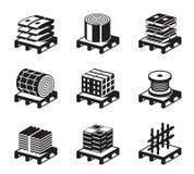 Materiales de construcción ilustración del vector
