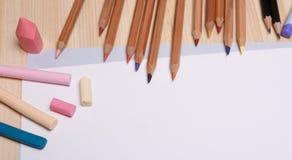 Materiales de dibujo Fotografía de archivo libre de regalías