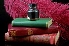 Materiales de escritura antiguos Imagen de archivo libre de regalías