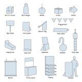 Materiales de la posición ilustración del vector
