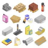 Materiales del sector de la construcción y de la construcción, sistema del equipo libre illustration