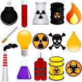 Materiales explosivos stock de ilustración