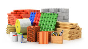 Materiales para cubrir, materiales de construcción, stock de ilustración