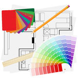 Materiali architettonici Fotografia Stock Libera da Diritti