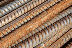 Materiali da costruzione d'acciaio torti Fotografia Stock