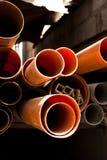 Materiali da costruzione impilati immagine stock libera da diritti