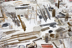 Materiali da costruzione presentati sul luogo Immagine Stock Libera da Diritti