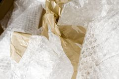 Materiali da imballaggio Immagine Stock