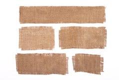 Materiali della tela di sacco Fotografia Stock Libera da Diritti