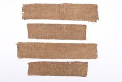 Materiali della tela di sacco Fotografia Stock
