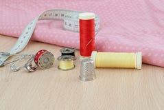Materiali di cucito Fotografie Stock