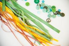Materiali di cucito multicolori Immagini Stock