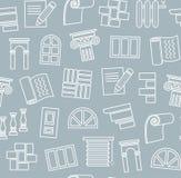 Materiali di rifinitura, costruzione, modello senza cuciture, disegno di contorno, blu scuro, colore, vettore illustrazione vettoriale