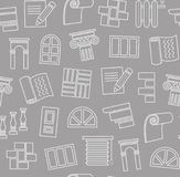 Materiali di rifinitura, costruzione, modello senza cuciture, disegno di profilo, grigio scuro, colore, vettore illustrazione di stock
