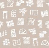 Materiali di rifinitura, costruzione, modello senza cuciture, matita che cova, gray, vettore illustrazione vettoriale