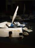 Materiali di scrittura antichi Immagine Stock