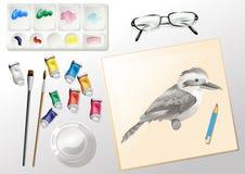Materiali utilizzati quando dipingono Fotografia Stock Libera da Diritti
