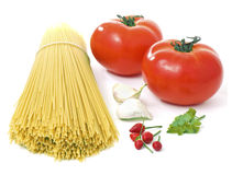 Materially for spaghettis Stock Photos