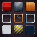 Materialne ikony Zdjęcia Royalty Free