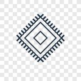 Materialnego pojęcia wektorowa liniowa ikona odizolowywająca na przejrzystym plecy ilustracja wektor