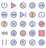 Materialny projekt Odizolowywająca Wektorowa ikony paczka która może łatwo zmodyfikowany lub redagować w jakaś kolorze jakaś kszt ilustracji