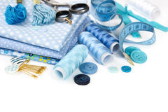 Materials and accessories for sewing Royalty Free Stock Image