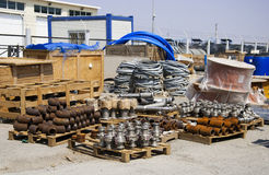 Materials Are Stored In A Warehouse Royalty Free Stock Photos