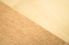 Materials background - compressed thermal insulating hemp fiber Royalty Free Stock Photos