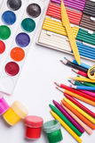 Materials for children's creativity Stock Photography