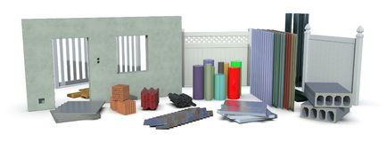 Materials for construction industry stock photo
