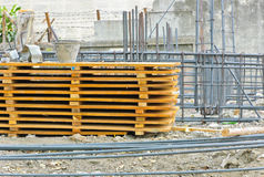 Materials at construction site Royalty Free Stock Photos