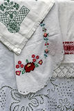 Materials and embroidered Romanian traditional port specific 5 Royalty Free Stock Images