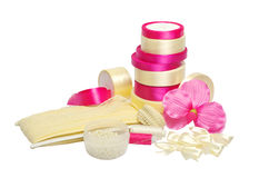 Materials and equipment for needlework and sewing Stock Photo